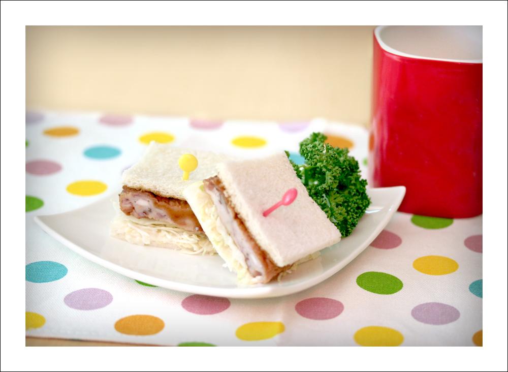 いかメンチ天のサンドイッチ